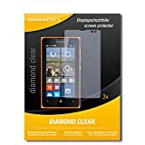 3 x SWIDO® Schutzfolie Microsoft Lumia 532 Dual Sim Bildschirmschutz Folie
