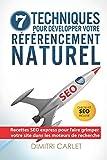 SEO - 7 Techniques pour Développer votre Référencement Naturel: Recettes SEO express pour faire grimper votre site...