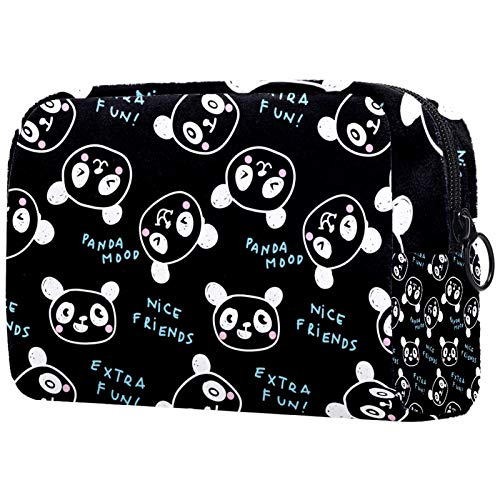 Bolso cosmético del Maquillaje Panda bebé de Dibujos Animados Bolsa de Viaje organizadora de Neceser Maquillaje Gran Capacidad para señoras perezosas 18.5x7.5x13cm