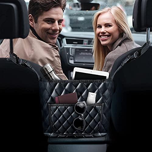 Auto-Netztasche Handtaschen-Halter mit gratis Tisch-Handtaschen-Aufhänger, Auto-Netz-Handtaschen-Halter, Auto-Handtaschen-Halter, Rücksitz-Organizer, Auto-Konsole, Carnet-Taschenbuch, Auto-Cache.