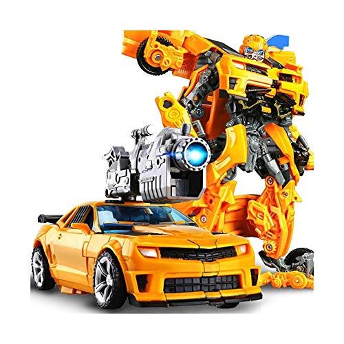 ZJXYYYzj Juguetes de deformación, Forma modificada del Interruptor Juguetes Robot Puede Coche Modelo de Figuras Anime Juguetes Optimus Prime Transformers Bumblebee (Color : Yellow)