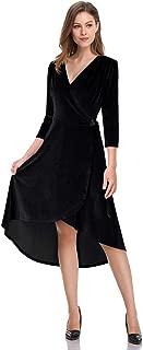 Best black high low wrap dress Reviews