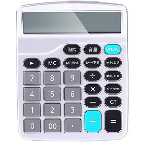 Calculadora Computadora de voz Voz real Botón de plástico botón ciego Fuente de alimentación dual de pantalla grande de 12 bits Tipo economico Calendario de alarmas