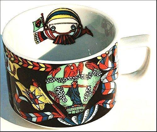 Tasse BALLON (Grundfarbe schwarz) aus der BOPLA Porzellan Serie Voyage (Reise Urlaub) 1 Kaffeetasse, 0,18l TASSE - TAZZA - CUP - TAZA 0,18 l, 1,8 dl, 6-1/4 fl. oz. platzsparend stapelbar, mircowellengeeignet, kältebeständig, ofenfest, spülmaschinenfest, gastronomiebewährtes Hartporzellan Schweizer Qualität, Dekor von namhaften Künstlern gestaltet. Begehrtes Sammlerporzellan. Alle Teller und Tassen sind individuell und einzeln kombinierbar und es passt immer in allen Farben zusammen