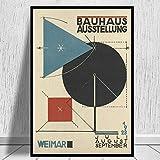 Bauhaus Ausstellung 1923 Exposición Weimer Dibujos de diseño Industrial Arte de geometría Abstracta Pintura de Lienzo Arte de la Pared Impresiones de Carteles Dormitorio Sala de Estar Estudio de
