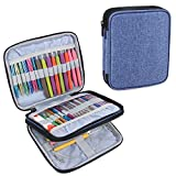 Teamoy Organizer Case for Interchangeable Circular Knitting Needles, Crochet Hooks and Knitting Accessories, Keep All in One Place and Easy to Carry, Blue (No Accessories Included)