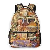 LNLN Mochila Casual para niñas Christmas Puzzle Laptop Backpack School Backpack...