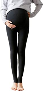 Maternity Leggings Pregnancy Tights Winter Plush Thickened Belly Support Adjustable Warm Bottoming Pants for Pregnant Women