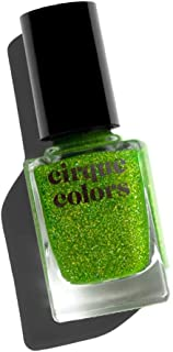 Cirque Colors Facets Collection - Holographic Jelly Nail Polish - Peridot - Lime Green - 0.37 fl. oz. (11 ml) - Vegan, Cru...