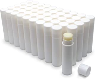 Natural Honey Lip Balm Bulk, Unlabeled Filled, 50 Pack   Add Your Own Labels For Party Favors, Gift Baskets, or Business B...