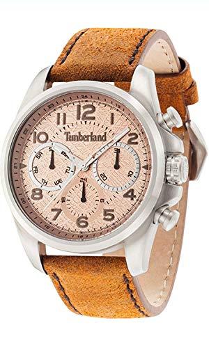 Timberland Smithfield Herren Uhr analog Quarzwerk mit Leder Armband 14769JS-07