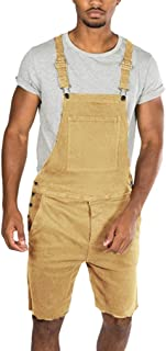 WGNNAA Mens Denim Washed Straps Jumpsuit Jeans Jumpsuit Streetwear Suspender Pants Casual Printing Denim Pants Dungarees Vintage Printed Loose Casual Baggy Sleeveless Overall Dungarees