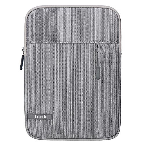 Lacdo iPad Mini 6 Sleeve, iPad Mini 5 Case, Water Repellent Tablet Sleeve Case for iPad Mini 6/5/4/3/2, Samsung Galaxy Tab A 8-Inch/ASUS ZenPad Protective iPad Mini Case Tablet Bag, Dark Gray
