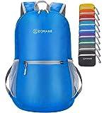 ZOMAKE Mochila Plegable Ligera 20L, Mochilas Pequeñas para Hombre Mujer, Mochilas Compacta para Viajar Senderismo(Azul Oscuro)