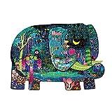 Nye Rompecabezas del Elefante de la Selva Tropical, un Juguete de Rompecabezas con el Esquema de Dibujos Animados de Elefantes, Que representa la Escena de la Selva Tropical, Adecuada para 5 + años