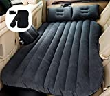 SNJV GRG Car Travel Camping Inflatable Air Mattress with Air-Pump, Portable Car Travel Bed with Two...