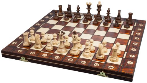 Albatros Schachspiel DA VINCI, Feldgröße 42 x 42 cm, Handarbeit aus Holz