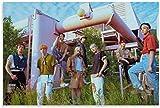 ZRRTTG Póster Y Estampados 60X90Cm Dormitorio Decorativo De La Sala De Estar De La Banda De Corea De Ateez Lienzo Pintura...