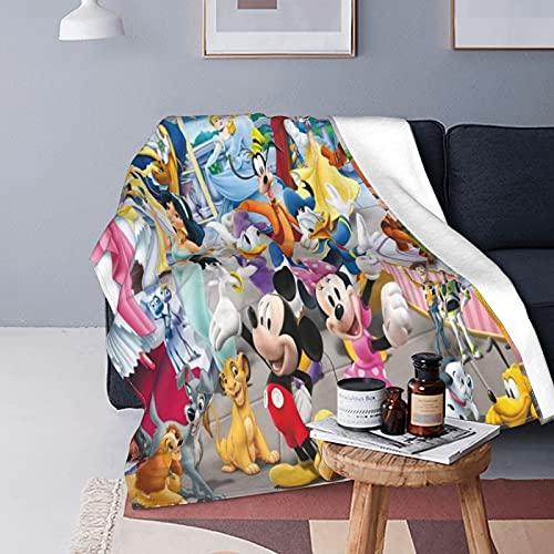 Disney Characters Manta ligera supersuave, ligera, uso en todas las estaciones, fácil de cuidar, 152,4 x 127 cm