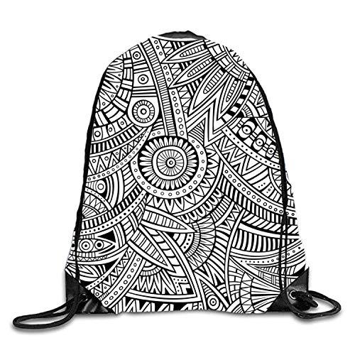 KIMIOE Mochilas Checker Chess Sackpack Large Drawstring Bucket Bag Backpack Waterproof Gymsack Daypack For Men Women