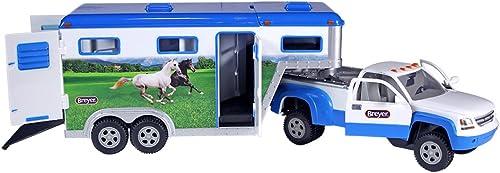 Breyer Lastwagen für Pferde und Schwanenhalsauflieger