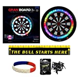 GRAN Blue Board 3s Global Online Electronic Dartboard Plus Throwline, 30 Premium L-Style Tips and I Love Darts Bracelet