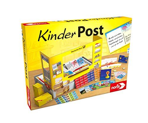 Noris 606011236 Kinderpost, Klassisches Kinder Rollenspiel, inkl. Postschalter und viel Postzubehör, Postkarten, Briefe, Pakete, für Kinder ab 4 Jahren