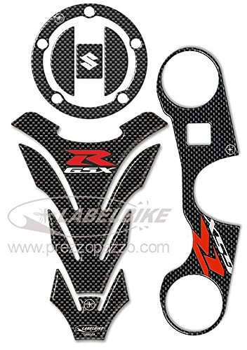 Kit de Pegatinas 3D Protecciones Compatible para Moto Suzuki Gsx-R 600 E 750 2006-2016