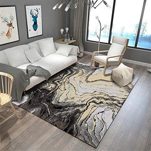 alfombras para Salon,Alfombra Negra Gris, cómoda Alfombra Suave Suave a Prueba de Polvo a Prueba de Polvo ,Alfombra Cocina -Gris Negro_80x160cm