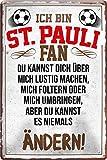 Blechschilder ICH BIN ST. Pauli Fan Metallschild für