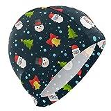 ALINLO Gorro de natación con diseño de árbol de Navidad, Gorro...