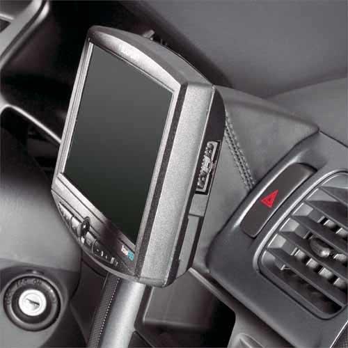 KUDA Navigation Console adatto per: Navi MAZDA 323P/F ab 2/01in vera pelle NERO