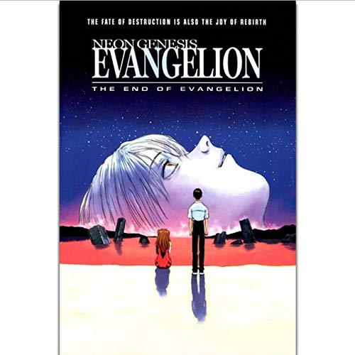 DPFRY Leinwandbilder Neon Genesis Evangelion Das Ende Von Evangelio Japan Anime Wandkunst Malerei Druck Auf Seide Leinwand Poster Home Decoration 40X60 cm Tx81Y Ohne Rahmen
