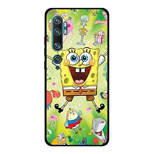 Black Case for XIAOMI MI Note 10/Note 10 Pro/CC9 Pro, Squarepants-Spongebob Baby 0 TPU Matte Silikon Coque Slim Fit Anti-Scratch Print Flexible Gel