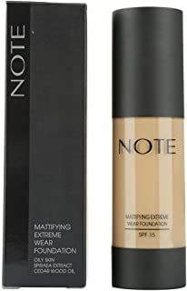 Note Mattifying Extreme Wear Foundation, Brown 05, Orange 3038