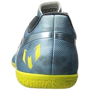 adidas Performance Men's Messi 15.3 Indoor Soccer Shoe, Matt Ice Metallic F12/Bright Yellow/Core Black, 12 M US