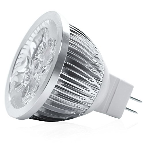 RC 4W 12V(AC/DC) MR16 LED Bulb Warm White 2800-3000K 30Watt Equivalent - 320 Lumen 60 Degree Beam Angle,10-Pack