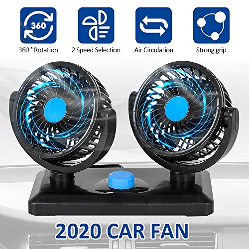 12V Car Cooling Fan, 360 Degrees Car Fan -$14.49(50% Off with code)