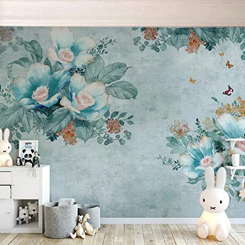 Pastorale Bloemen Muurschildering Op maat 3D Fotobehang voor Slaapkamer Woonkamer Sofa TV Achtergrond Decoratie Thuis Muur Paper-400X280cm