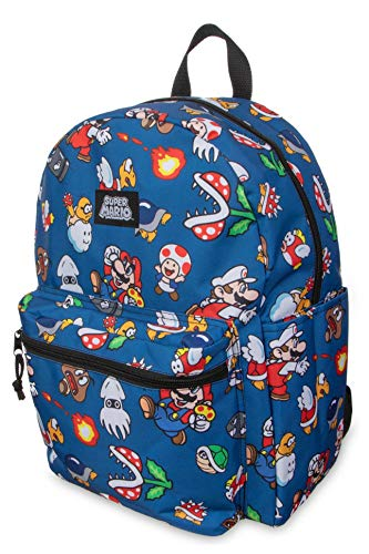 Super Mario All-Over Comic Print 16inch Full Backpack