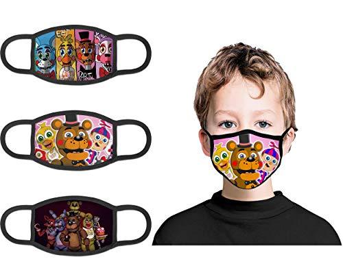 FNAF Kids Face Cover 3 PCS with Fil…