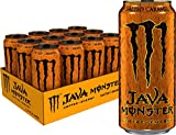 Monster Energy Java Monster Salted Caramel, Coffee + Energy Drink, 15 Fl Oz (Pack of 12)