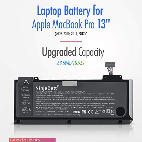 NinjaBatt Laptop-Akku A1278 A1322 für Apple MacBook Pro 13