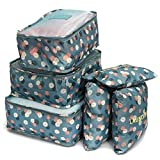 Aiznic Multi-Functional Storage Nylon Travel Organiser with Packing Cubes Laundry Bag and Compression