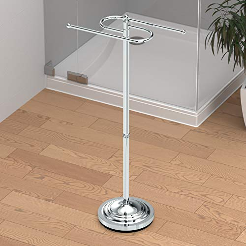 Gatco 1505 Floor Standing S Style Towel Holder, Chrome