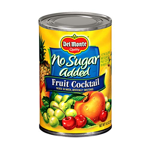 Del Monte Canned Fruit Cocktail, No Sugar Added, 14.5-Ounce Cans (Pack of 12)