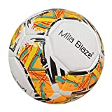 NA. Soccer Ball Size 5 Applied to The Outdoor Indoor with Teenagers Adult Pro Pu Wear-Resistant Material Four Layer Machining Process (Orange)