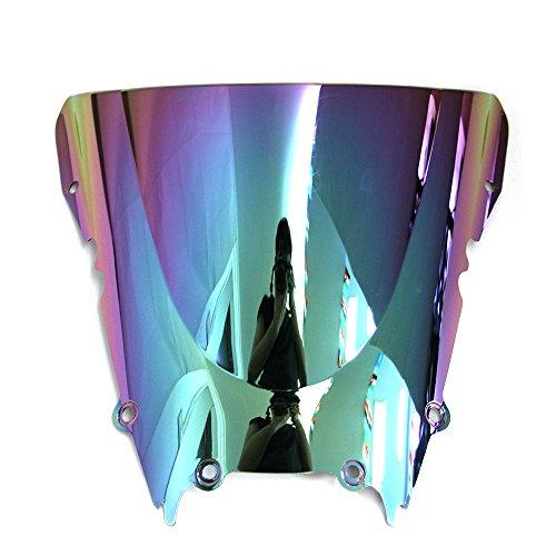 OyOCycle Windshield for Yamaha YZF R6 1999-2002 YZF R6 2000 2001 Double Bubble Windscreen Wind Deflector Wind Splitter