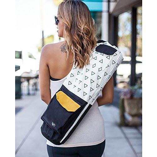 Open Road Goods Eco Friendly Yoga Mat Bag | Organic Yoga Bag for Extra Wide Mats | Yoga Mat Carrier for Men & Women: Full Zip, Adjustable Carry, Pockets, GOTS 100% Cotton Canvas