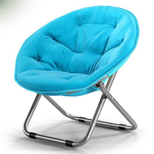 YLCJ Vouwstoel Vouwstoel Grote stoel voor volwassenen Ligstoel Luie ligstoel Vouwstoel Ronde stoel 76x52cm A ++ (Kleur: blauw liefje) Schatblauw